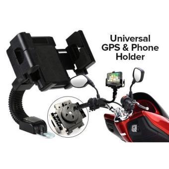 Promo Mobile Holder Motor Untuk HP GPS Phone Holder Jepit untuk Spion Motor .