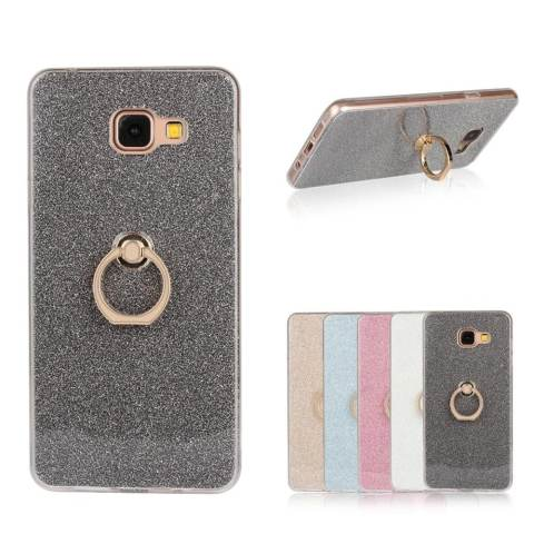Bulan Case Case untuk Samsung Galaxy A7 2016 Glitter Bling Cetakan Fleksibel Pelindung TPU Lunak Case