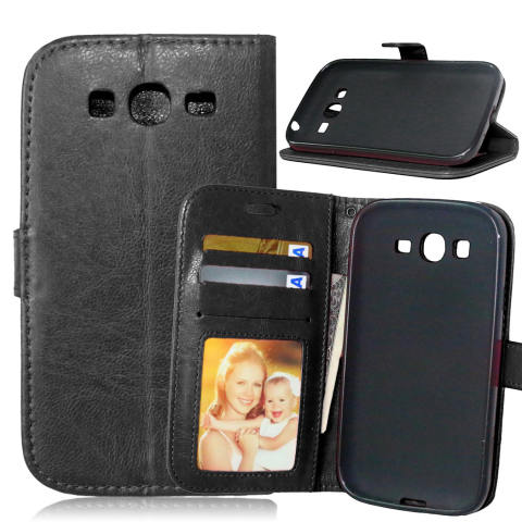 Moonmini PU Leather Flip Stand Dompet Case Cover untuk Samsung Galaxy Grand Neo I9060/Duos