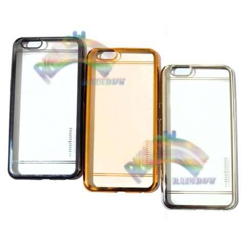 Motomo Chrome Oppo A57 Softcase Shining Chrome Glamour Bac Cover / Tpu Jelly Case/ Ultrahin