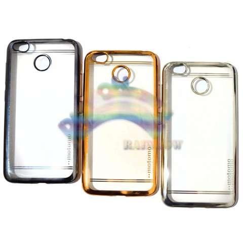 Motomo Chrome Xiaomi Redmi 4X Softcase Shining List Chrome Glamour / Tpu Jelly Case/ Ultrahin