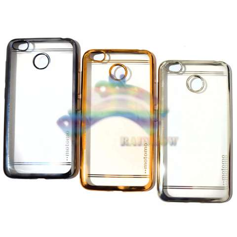 Motomo Chrome Xiaomi Redmi 4X Softcase Shining List Chrome Glamour / Tpu Jelly Case/ Ultrahin