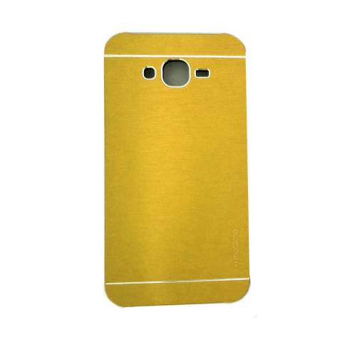 BACKCASE METAL CASE HITAM. Motomo Hardcase Samsung Galaxy J5 - Gold .