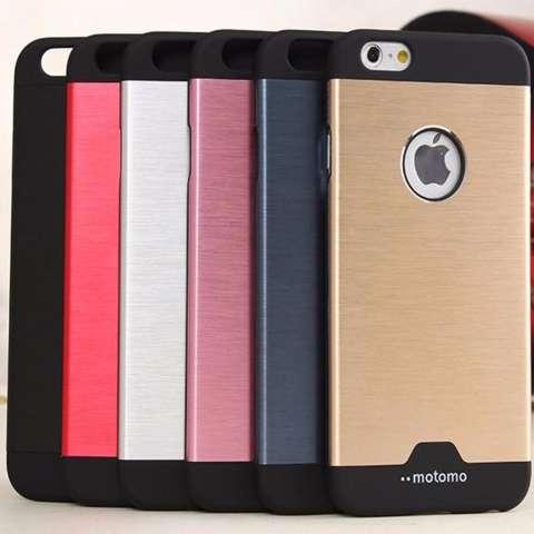 Motomo Hybrid For Apple iPhone 6 / iPhone6 / Iphone 6 / Iphone 6 Ukuran 4.7 Inch / IP6 / IP 6G / 6S Metal Alumunium Hardcase + Polycarbonate Case Anti Slip ...