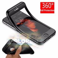 MR Case 360 iPhone 6 / Case iPhone 6G / Case Fullbody Depan Belakang iPhone 6S Ukuran 4.7inch / Silikon iPhone 6 / Casing Baby Skin iPhone6 / Soft Case 360 Full Body iPhone 6 S / Ultrathin iPhone6S / iPhone 6 / iPhone 6G Slim 2in1- Black
