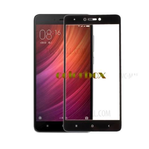 MR Screen Protector Full Screen Black Xiaomi Mi Note 4X Anti Gores Kaca / Tempered Glass