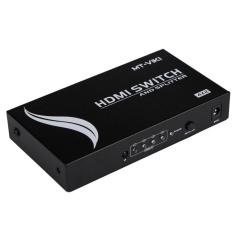 MT-HD4-2 4 Port HDMI Dalam 2 Port HDMI Sinkronisasi Out HDMI SwitchSplitter HDMI1.4 Dukungan Auto Remote-Intl