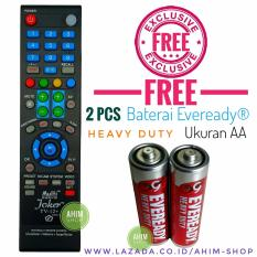 Multi™ Remote TV Pintar Bisa u/Kipas Angin + 210 Merek TV LED LCD HDMI Plasma + Free 2pcs Baterai AA Eveready®