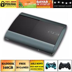 New - SONY Playstation 3 SUPER SLIM 160GB - 20 Game - 2 Stik Wireless - Grade A