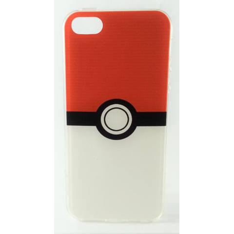 Nice Case Jelly Motif Kartun Case for iPhone 5 (Merah Putih)