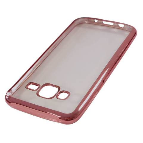 Nice Crystal Clear Shining Case untuk Samsung Galaxy J5 - Rose Gold