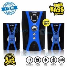 Niko Slank Speaker Super Woofer Bomb Bass Technology Pengeras Suara + Bluetooth NK-M1Bx - Biru