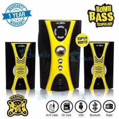 Niko Slank Speaker Super Woofer Bomb Bass Technology Pengeras Suara + Bluetooth NK-M1Bx - Kuning