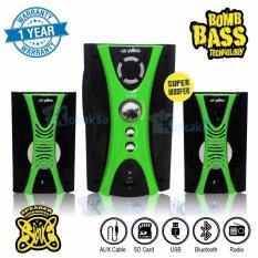 Niko Slank Speaker Super Woofer Bomb Bass Technology Pengeras Suara + Bluetooth NK-M2Bx - Hijau