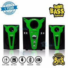 Niko Slank Speaker Super Woofer Bomb Bass Technology Pengeras Suara + Bluetooth NK-S2Bx - Hijau