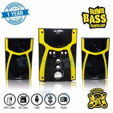 Niko Slank Speaker Super Woofer Bomb Bass Technology Pengeras Suara + Bluetooth NK-S1Bx - Kuning