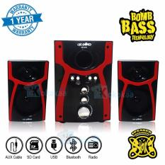Niko Slank Speaker Super Woofer Bomb Bass Technology Pengeras Suara + Bluetooth NK-S1Bx - Merah