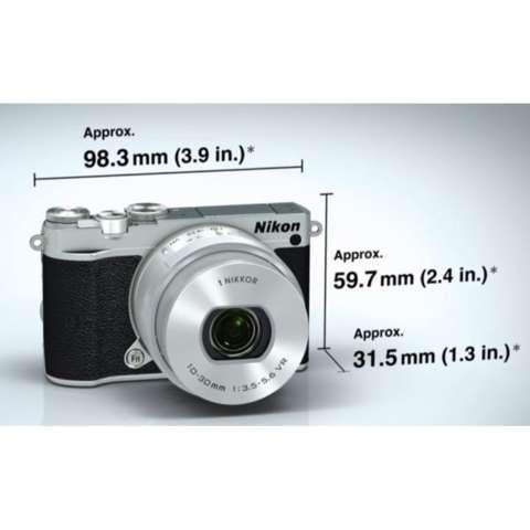 Nikon 1 J5 (Silver) WiFi 4K 15fps Video Mirrorless Camera + 1 NIKKOR VR 10-30mm f/3.5-5.6 PD-ZOOM Lens 6