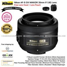 Nikon AF-S DX NIKKOR 35mm f/1.8G DX Lens (Garansi 1th) Free Lens Hood + Lens Pouch Original
