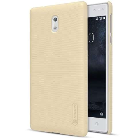 Nillkin For Nokia 3 Super Frosted Shield Hard Case Original - Emas + Gratis Anti Gores