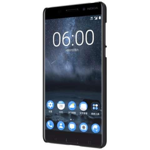 Nillkin For Nokia 6 Super Frosted Shield Hard Case Original - Hitam + Gratis Anti Gores