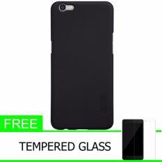 Nillkin For Oppo F3 Plus / R9S Plus Super Frosted Shield Hard Case Original - Hitam + Gratis Tempered Glass