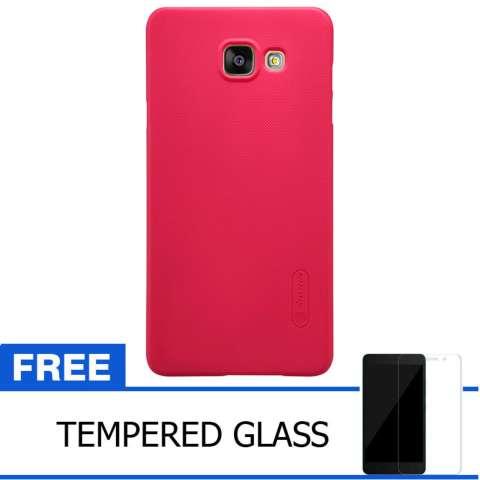 Nillkin For Samsung Galaxy A7 / A710F 2016 Super Frosted Shield Hard Case Original - Merah