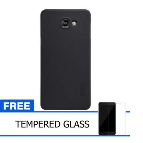 Nillkin For Samsung Galaxy A9 Pro / A9100 2016 Super Frosted Shield Hard Case Original - Hitam + Gratis Tempered Glass