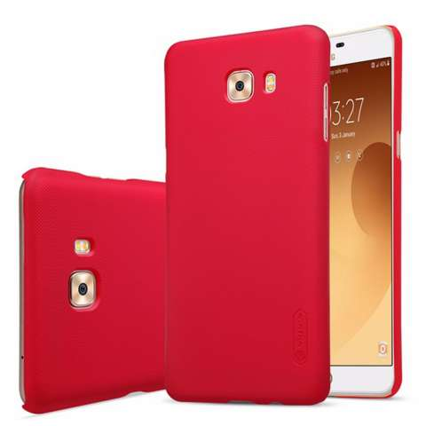 Nillkin For Samsung Galaxy C9 Pro Super Frosted Shield Hard Case Original - Merah + Gratis