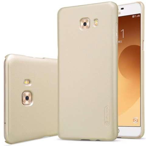 Nillkin For Samsung Galaxy C9 Pro Super Frosted Shield Hard Case Original - Emas + Gratis