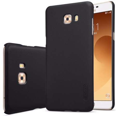 Nillkin For Samsung Galaxy C9 Pro Super Frosted Shield Hard Case Original - Hitam + Gratis