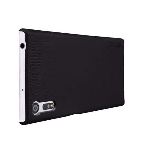 Nillkin For Sony Xperia XZ Super Frosted Shield Hard Case Original - Hitam + Gratis Anti