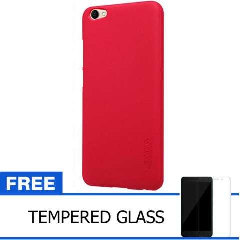 Nillkin For Vivo V5 / Y67 Super Frosted Shield Hard Case Original - Merah + Gratis