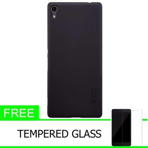Nillkin For Xperia XA Ultra Super Frosted Shield Hard Case Original - Hitam + Gratis Tempered