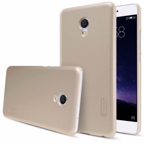 Nillkin  Frosted Case For Meizu Mx6 - Emas + Free Screen Protector(Off White)