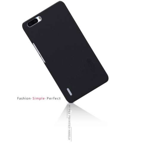 Nillkin Frosted Shield Hard Case Huawei Honor 6 Plus - Hitam + Free Nillkin Screen Protector