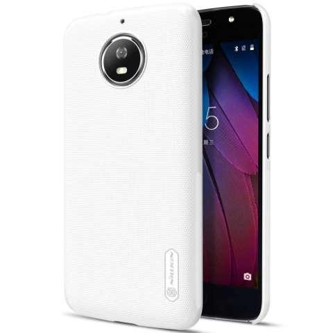 Nillkin Frosted Shield Hard Case Motorola Moto G5S - Putih + Free Nillkin Screen Protector