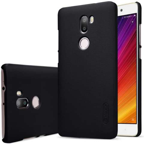 Nillkin Frosted Shield Hard Case Xiaomi Mi 5S Plus - Hitam + Free Nillkin Screen Protector