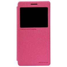 Nillkin Lenovo A7000 / A7000 Plus / A7000 Turbo Sparkle Flip Leather Case Original - Pink