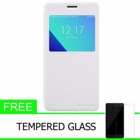 Nillkin Sparkle Leather Case / Flip Case Cover Original Samsung Galaxy J2 Prime - Putih +