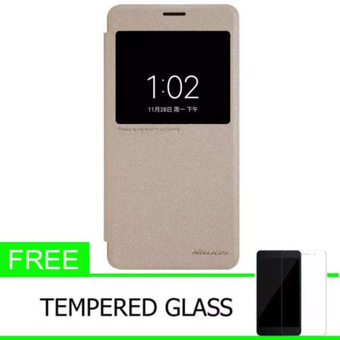 ... Nillkin Sparkle Leather Case Flip Case Cover Original Xiaomi Mi Note 2 Emas Gratis Tempered Glass