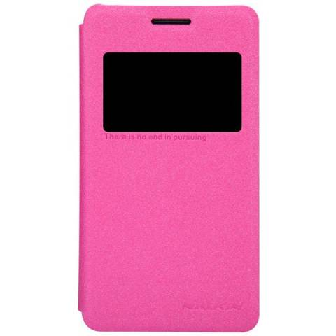 Nillkin ORIGINAL Sparkle Sony Xperia E1 - Pink/Merah Muda Leathercase Bookcase Flipcase Flipcover Casing
