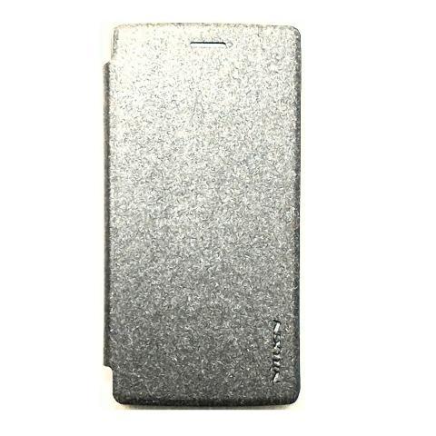 Nillkin Sparkle Leather Case Flip Cover Oppo Neo 5 A31 – Hitam Metalik