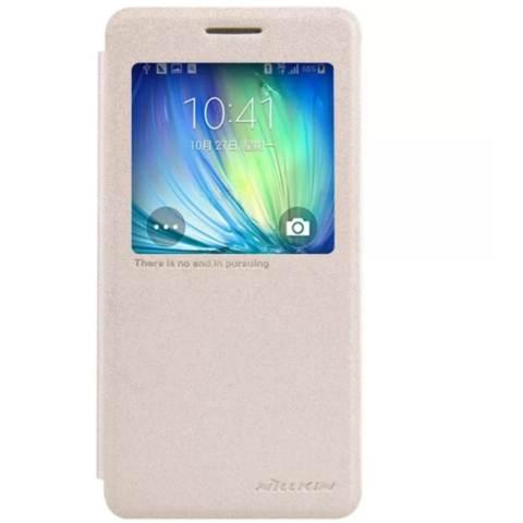 Nillkin Sparkle Leather Case Samsung Galaxy A5 (A5000 A500H A500F) - Emas (Gold