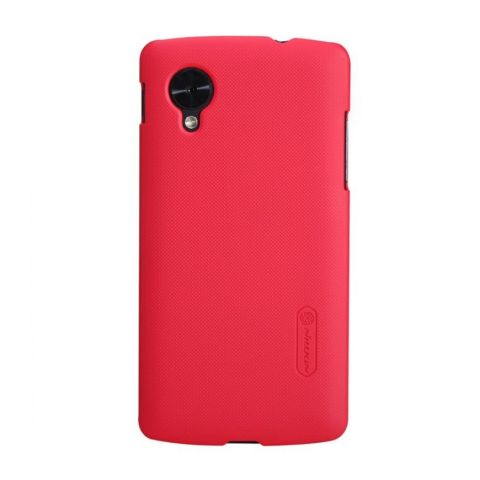 Nillkin Super Frosted Shield for LG Nexus 5 Red + Gratis Screen Protector + Micro Fiber