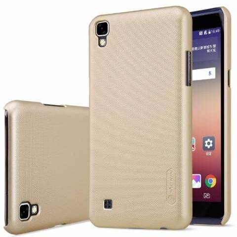 Nillkin Super Frosted Shield For Lg X Power (K220Y) - Emas + Free Screen