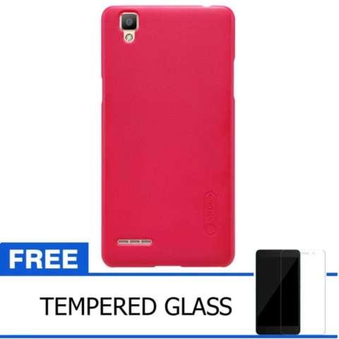 ... Nillkin Super Frosted Shield Hard Case Oppo F1 A35 Original Merah Gratis Tempered