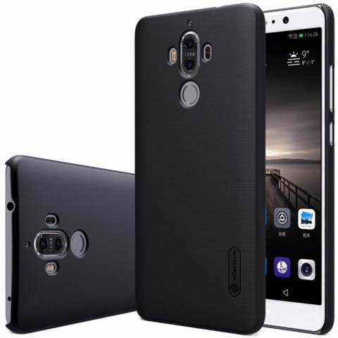 Nillkin Super Frosted Shield Matte cover case for Huawei Mate 9 - Hitam + free screen