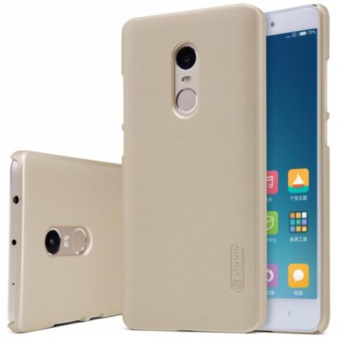 Nillkin Super Frosted Shield Matte cover case for Xiaomi Redmi Note 4 - Emas + free