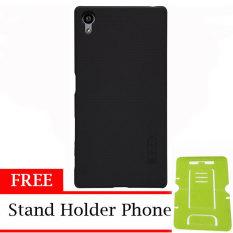 Nillkin Super Shield Hardcase 1mm ORIGINAL  for Sony Xperia Z5 Dual Original - Black + Free Stand Holder Phone
